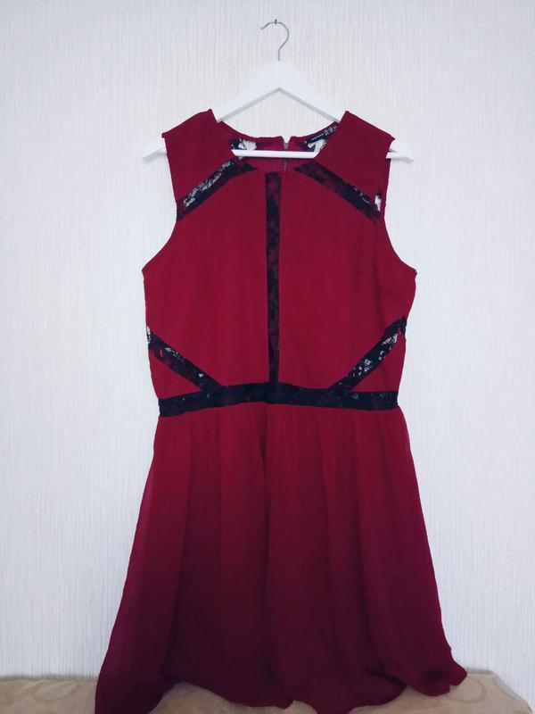 163be325cf9 Бордова шифонова сукня atmosphere  бордовое шифоновое платье1 ...