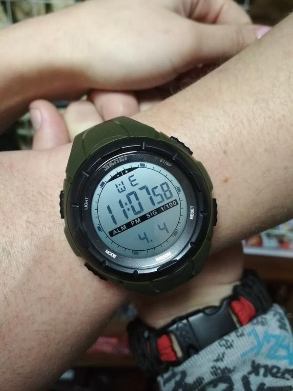 Спортивний годинники 1025 оливка зелений skmei1 ... c5d213dad7791