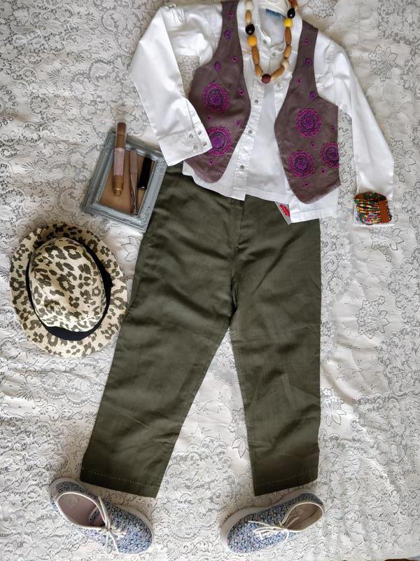Літні штани для дівчини 34р 50% льон ae054091a149a