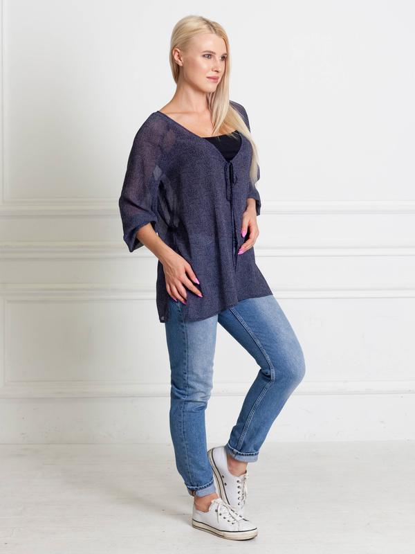 0a051326a5d Распродажа до 31.10! блуза-накидка тёмно-синяя в горошек bonanza1 ...