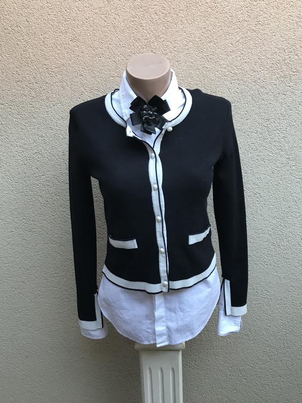 Кардиган,кофта на застёжке,трикотажный жакет,пиджак в стиле шанель.zara1 ... 50136da392c