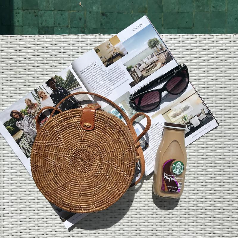 9b58f186e378 Круглая сумочка, соломенная сумка, сумочка из ротанга, сумка из соломы. тренд  2018 ...