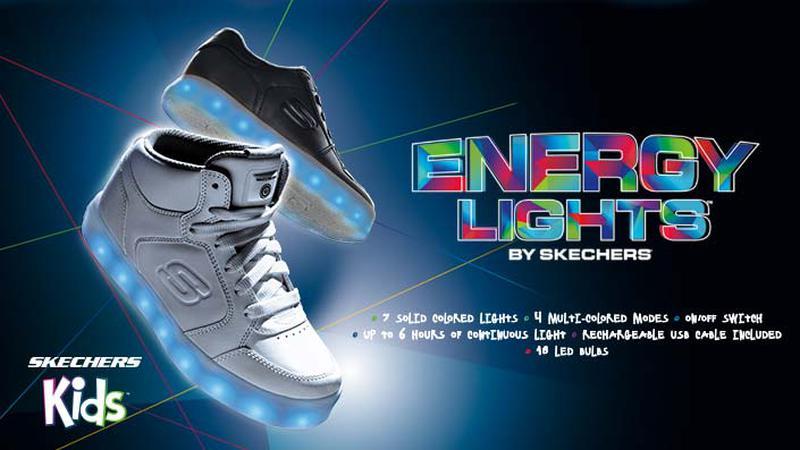 Skechers energy lights sneaker - кожаные светящиеся кроссовки - стелька 23  см1 ... bbadc27850c