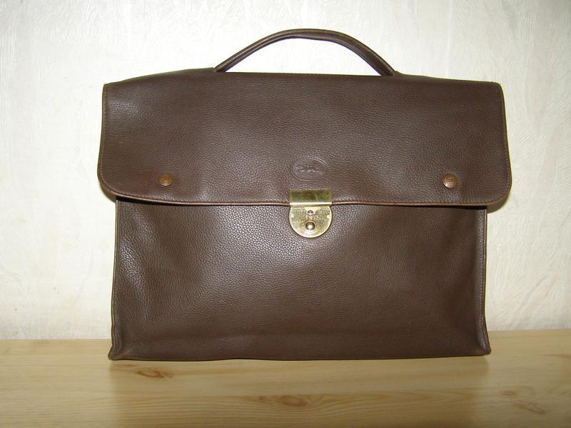 c58546a85aa8 Мужской кожаный портфель от longchamp, оригинал, франция,люкс класс,плотная  кожа1 фото ...