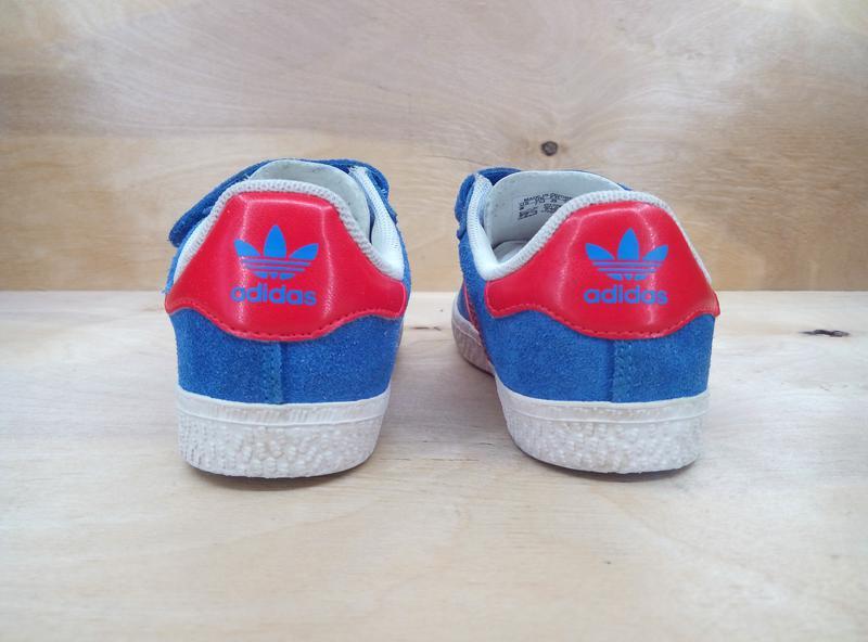 50cc29ec ... Классные замшевые детские кроссовки adidas gazelle на липучках ( 25  размер )2 фото ...