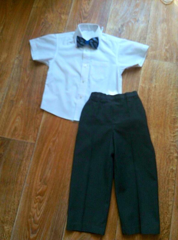 b087b4c6058 Mark  spenser костюм нарядный на утренник.комплект рубашка брюки и бабочка  . штаны1 ...