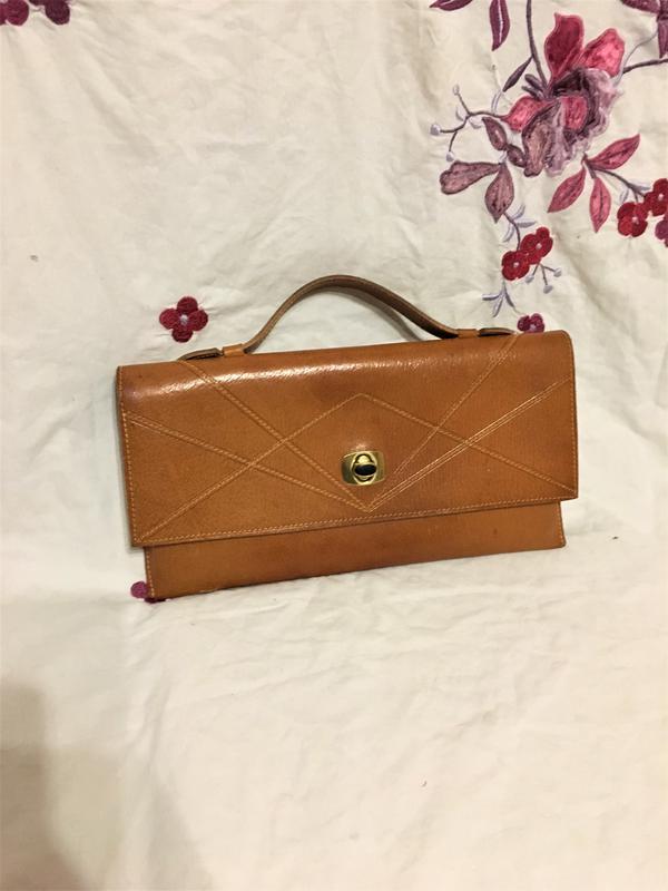 595b8902d292 Кожаный клатч барсетка сумка из натуральной кожи рыжая, цена - 150 ...