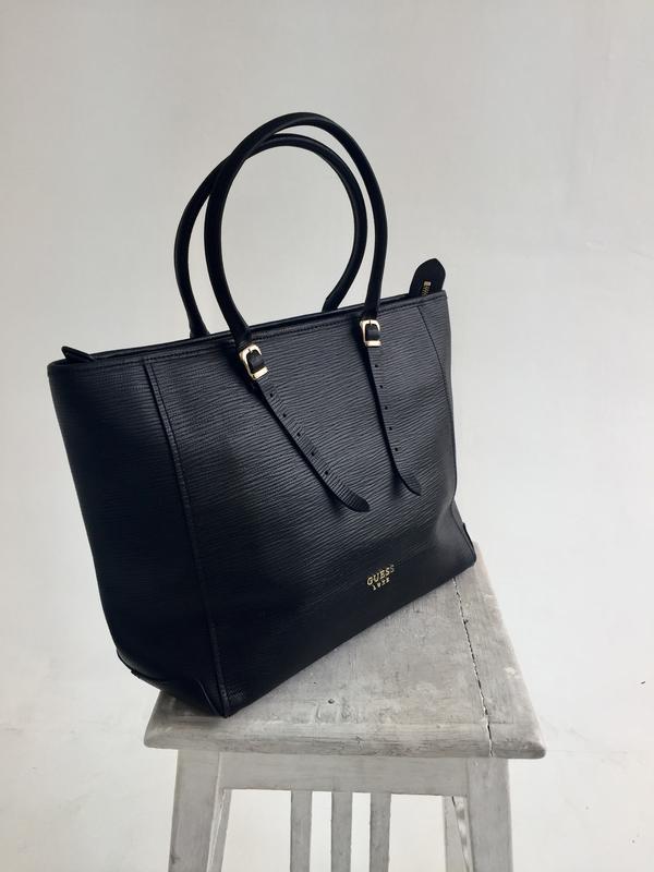 414ec0dc Чёрная кожаная сумка guess оригинал Guess, цена - 1600 грн ...