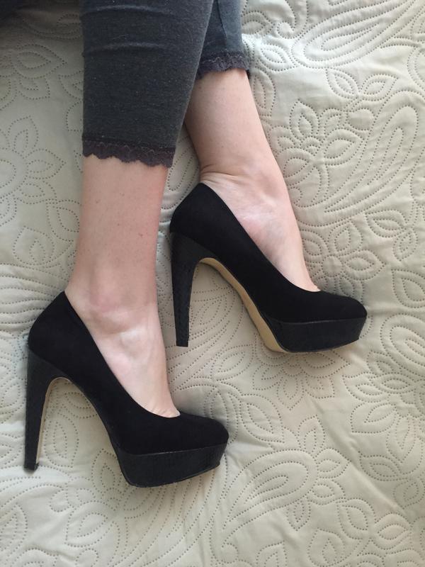 фото туфли черные на высоком каблуке