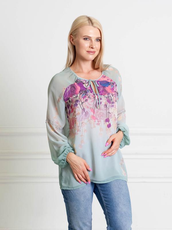 83aea1aa0f7 Шифоновая блузка мятного цвета bonanza1 фото ...