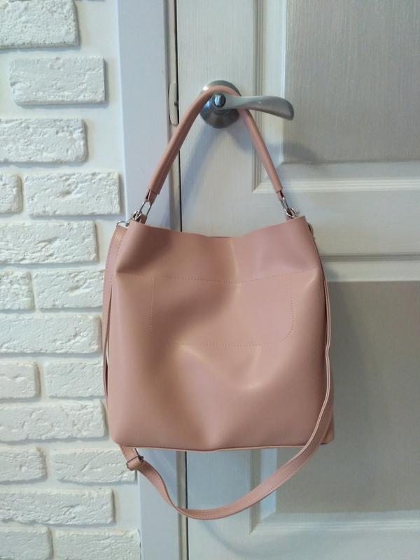 647de0a3175e Красивая сумка на плечо, цвет пудра, цена - 599 грн, #18170306 ...