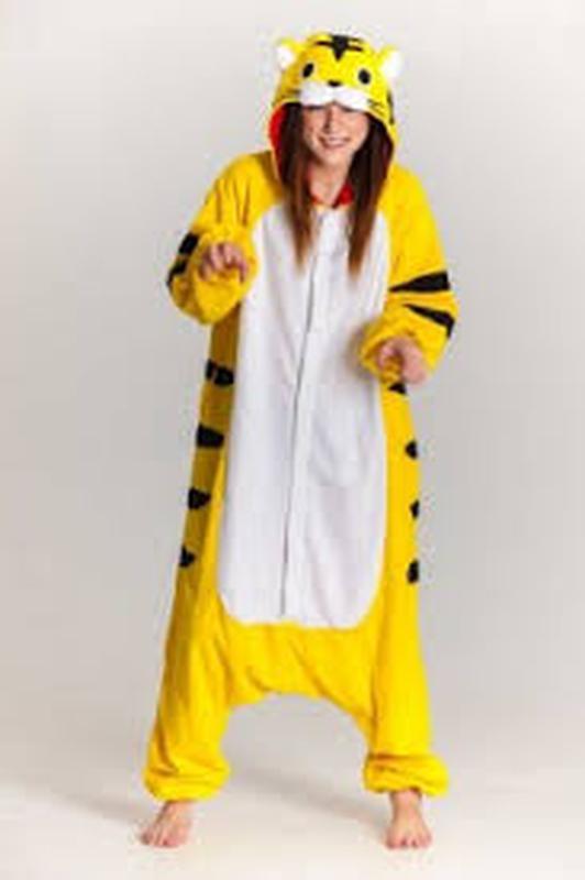 Тигр желтый пижама футужама слип кигуруми комбинезон домашний лыжный костюм  s m1 ... 71fe885799cec