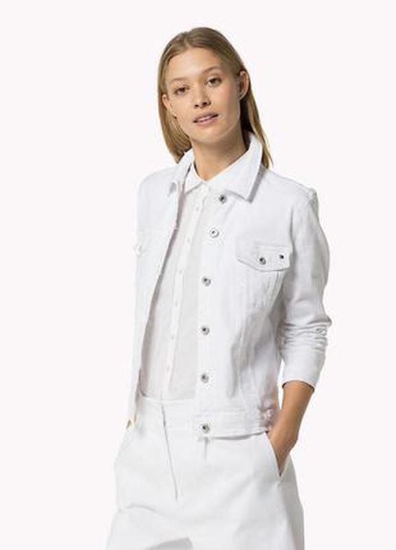 f1b1a06541d Джинсовая куртка белая джинсовка тренд1 фото ...