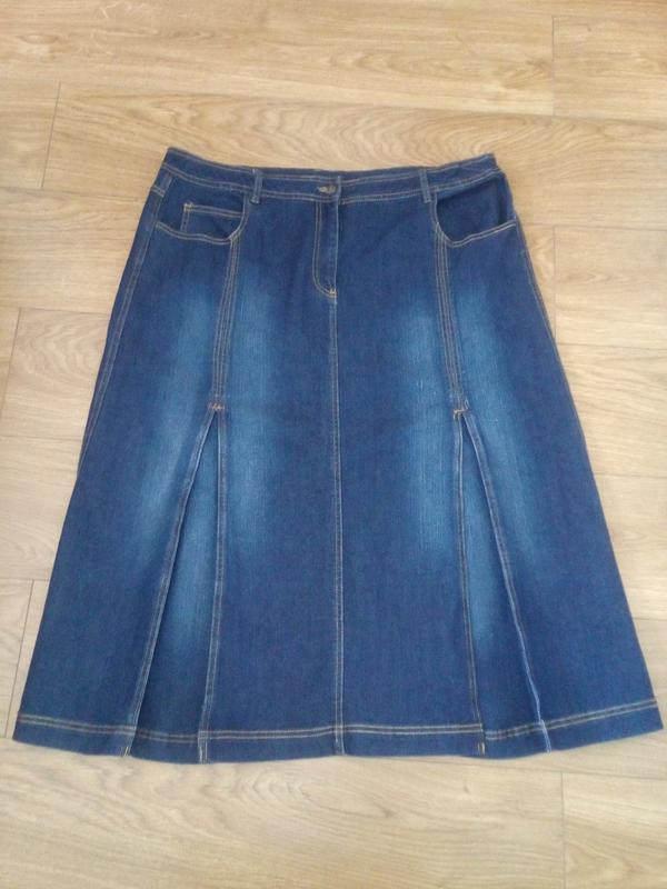 15e90853cf8 Джинсовая юбка батального размера laredoute. Laredoute