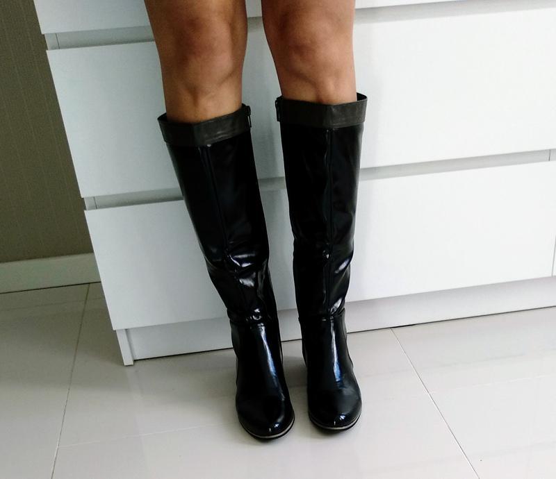 7d3aa59b9 Сапоги осень-весна на низком каблуке черные размер 40, 26 см1 фото ...