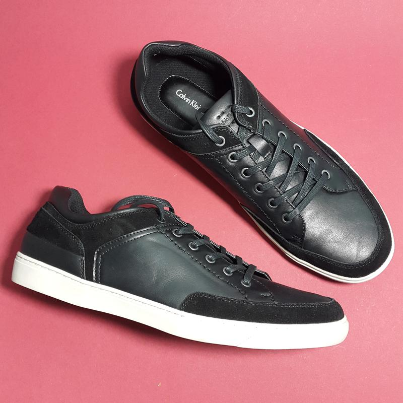 1ae5ced53 ... Calvin klein оригинал черные мужские туфли кеды кожаные бренд из сша р44-455  фото