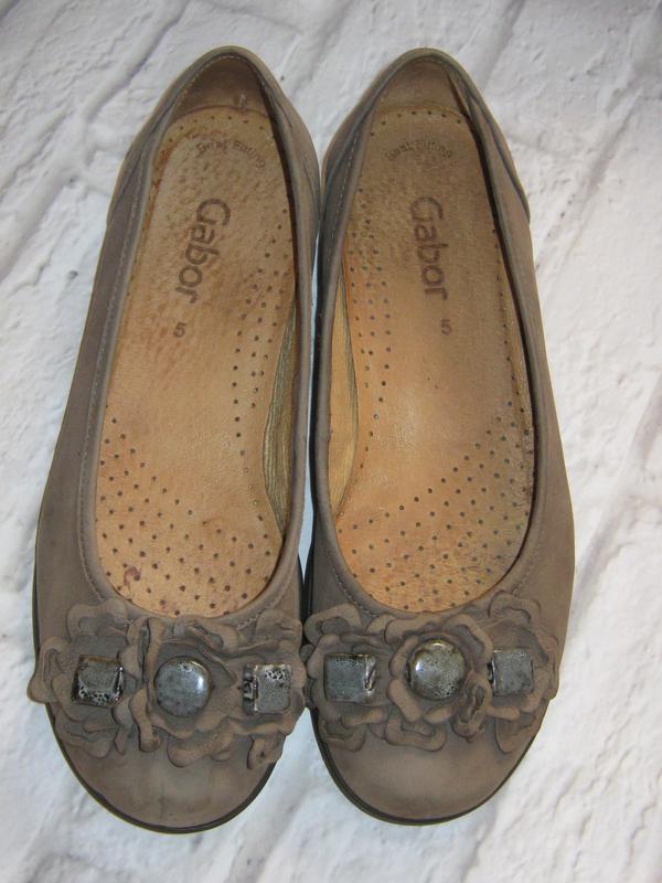 0a4eca072ae7 Кожаные стильные туфли-балетки gabor (германия), размер 38 (25 см) ...