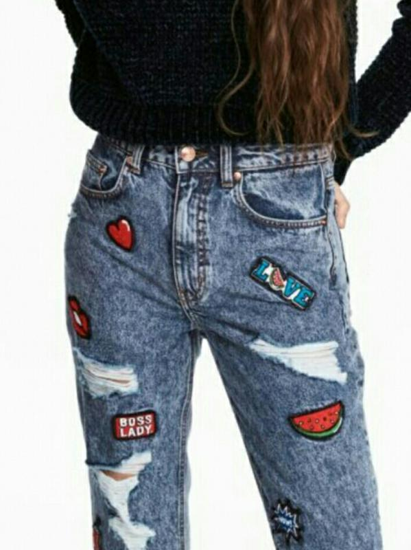 modern and elegant in fashion search for authentic hot sale Mom jeans h&m divided с патчами новые (H&M) за 900 грн.