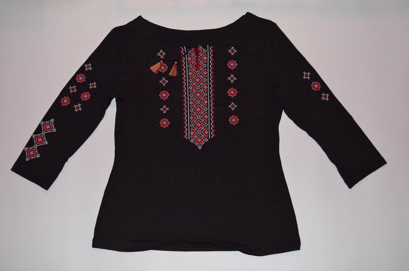 0617a6d68f5837 Стрейчева котонова вишита кофта-сорочка вишиванка / вышитая кофта-рубашка  вышиванка1 фото ...