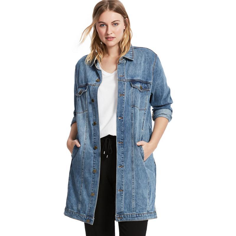 длинные джинсовые куртки 5