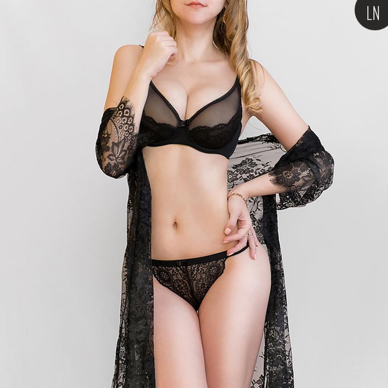 Черное белье кружевное прозрачное недорогое женское белье в краснодаре