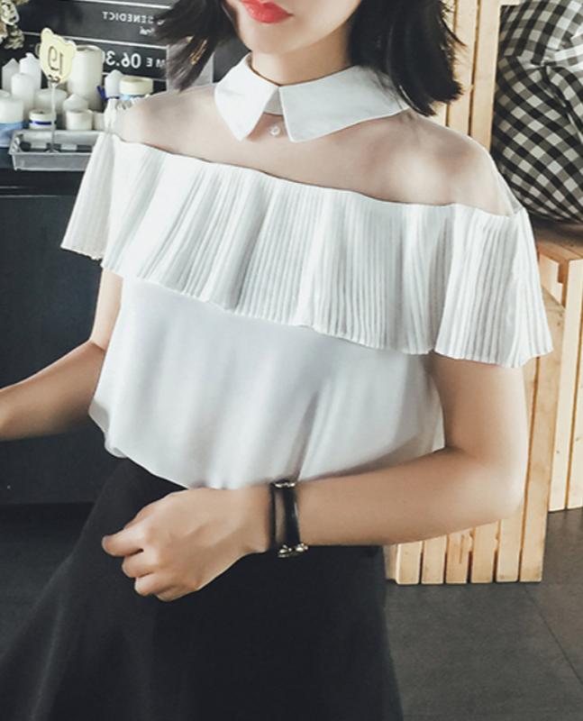 f23f6c790fc Очень модные шифоновые блузки с плиссировкой белые и чёрные!1 фото ...