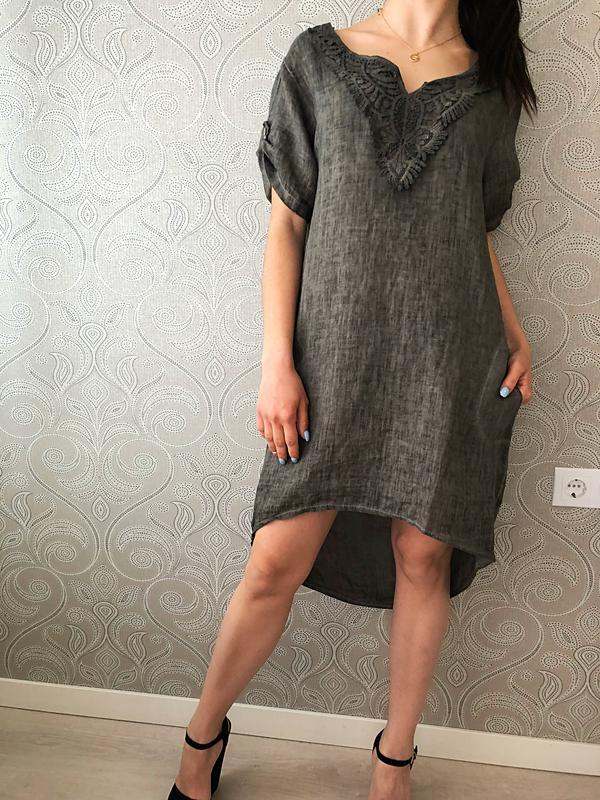 28e1ed0f693 Итальянское льняное платье