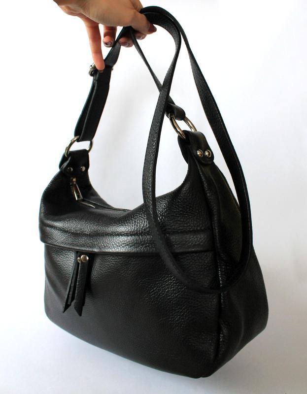 Итальянская мягкая черная кожаная (натуральная кожа) сумка, италия1 ... 30533bf9ad6