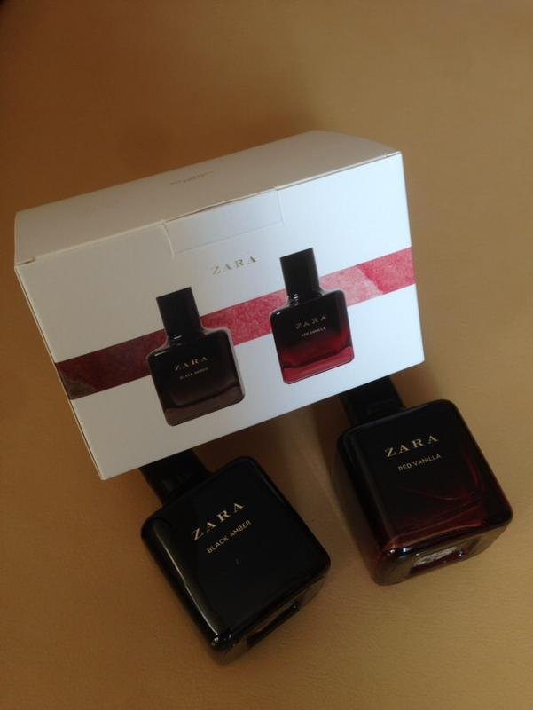 Набор zara red vanilla 100 ml + black amber 100 ml1 фото