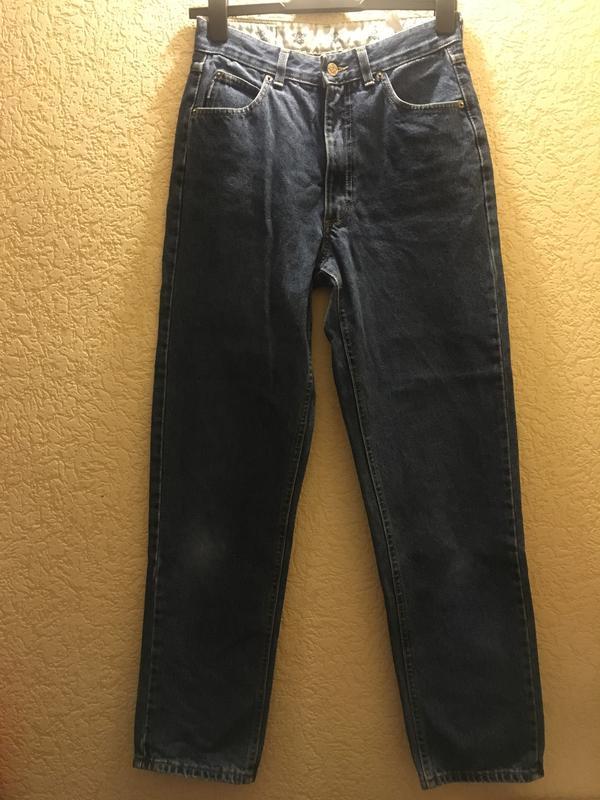 2c1a0cc0ab5 Джинсы красивого синего цвета mom jeans высокая посадка талия1 ...