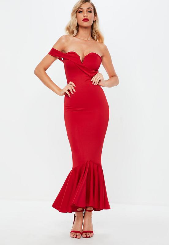 5328480a637 Красное вечернее платье в пол Missguided