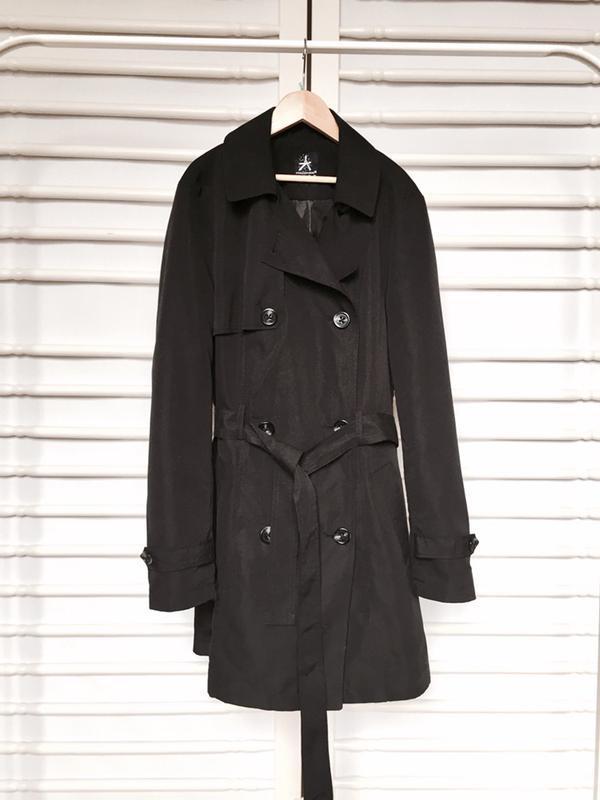 Стильное пальто тренч с поясом и длинным рукавом Atmosphere 464ae9b81a365