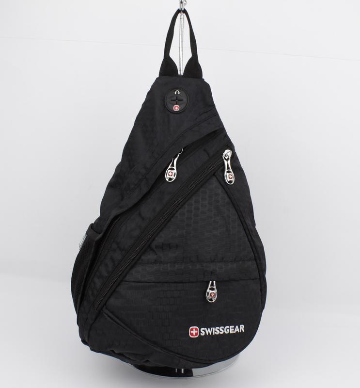 eb09585101fc Рюкзак слинг через плечо swissgear 1007 черный с выходом для наушников1  фото ...
