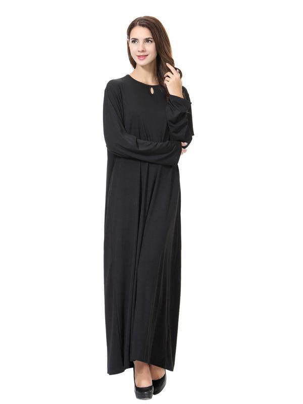 fb6cac74ce7 Длинное базовое чёрное платье макси  абая l xl1 фото ...