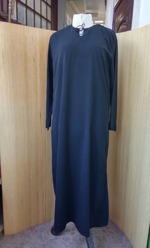 498458f0763 ... Длинное базовое чёрное платье макси  абая l xl2 фото ...