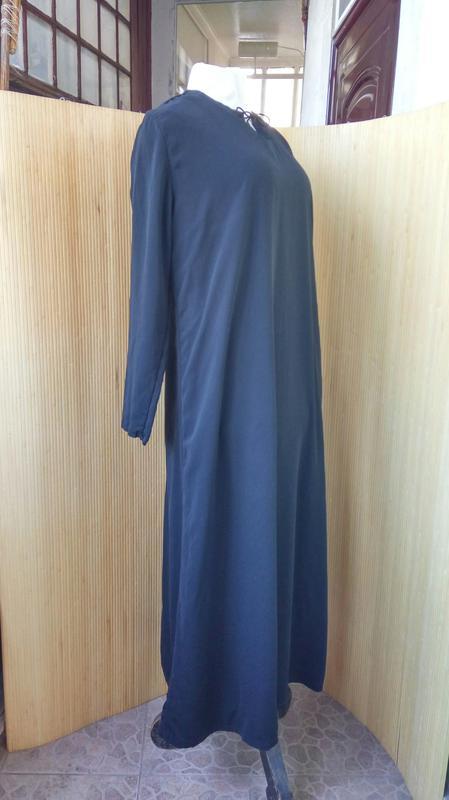 f83f6d9a6f3 ... Длинное базовое чёрное платье макси  абая l xl4 фото