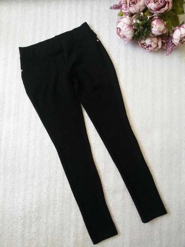 704d14c4018 Леггинсы лосины брюки укороченные 7 8 утепленные черные1 ...