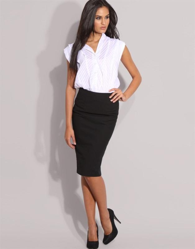 Классическая чёрная юбка купить