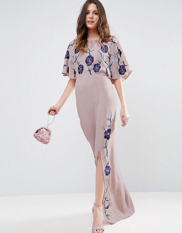 Maya лілова сукня з вишивкою сукня вишита сукня чайна роза1 ... 716dbbd981f6e