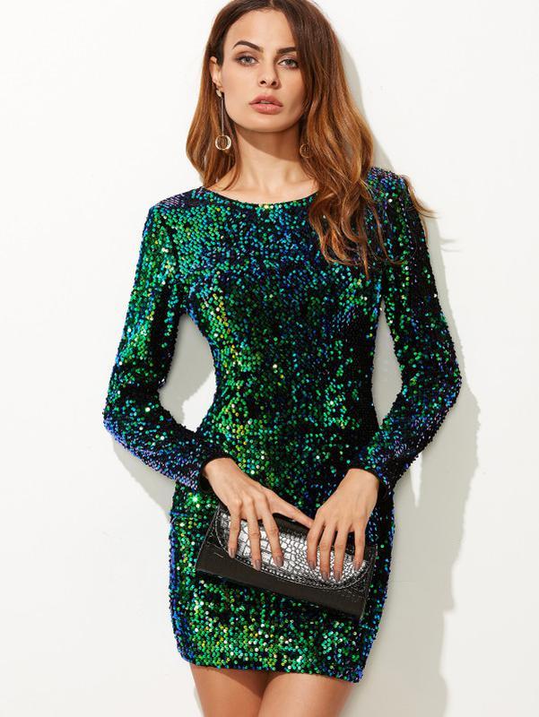 d9e5de615696c7b Коктейльное/вечернее темно-зеленое платье в пайетках motel1 фото ...