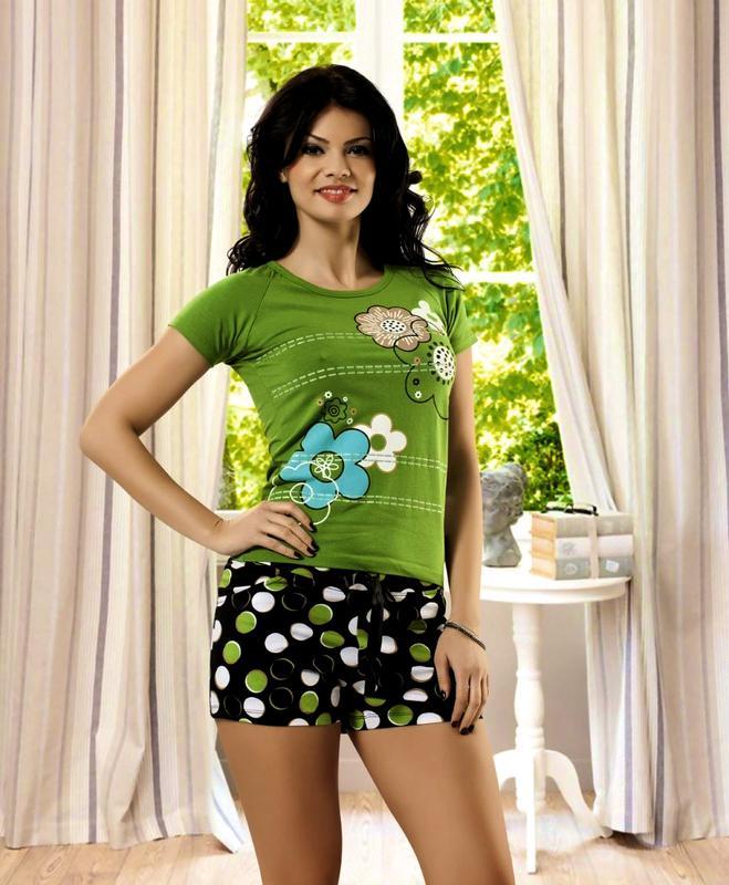 9e7a2bd3c3d4 Летний комплект, футболка, шорты, хлопковая, женская пижама, домашний костюм:  m ...