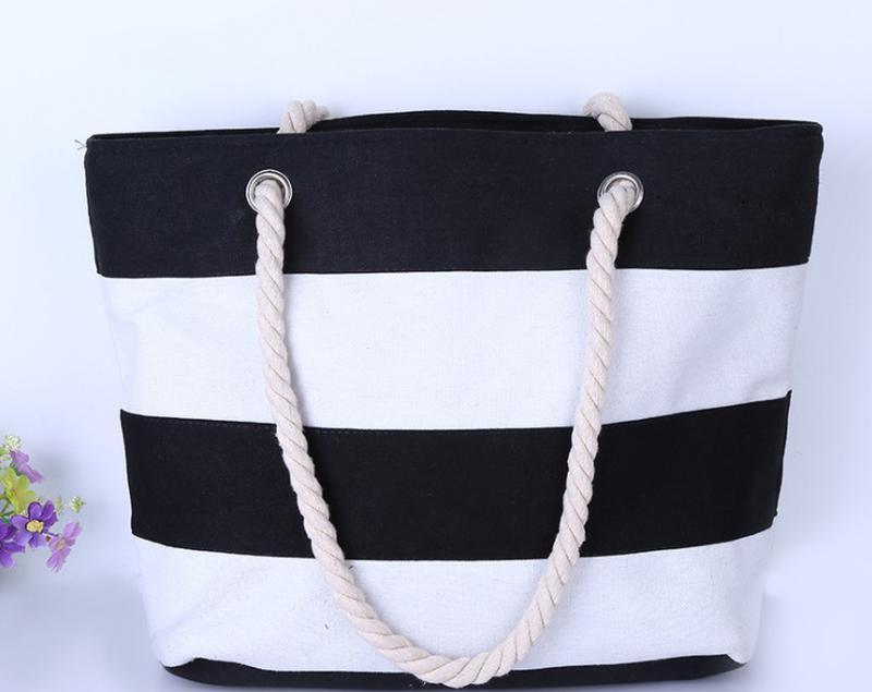 Пляжная сумка в полоску черно-белая, цена - 300 грн,  12395333 ... c675fa48cbd