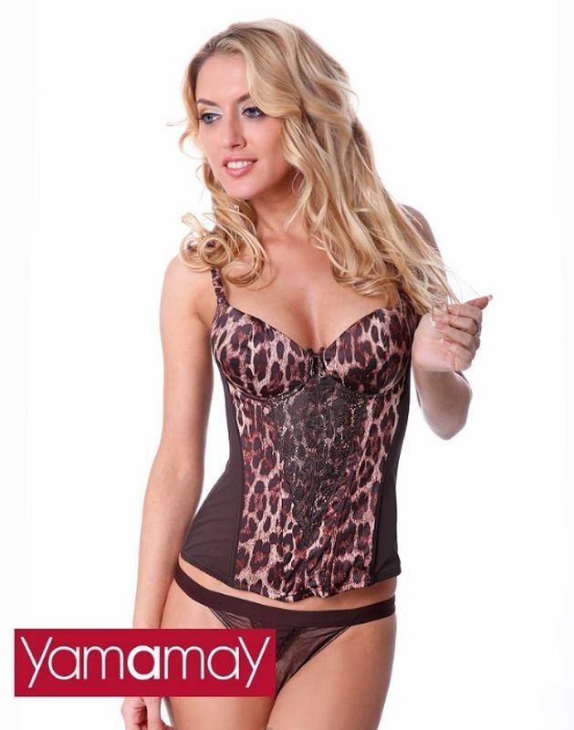 Сексуальный женский корсет с леопардовым принтом