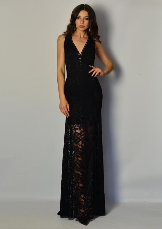 7e8cefb4681 Роскошное дизайнерское кружевное вечернее платье в пол дорогое кружево  открытая спина1 фото ...