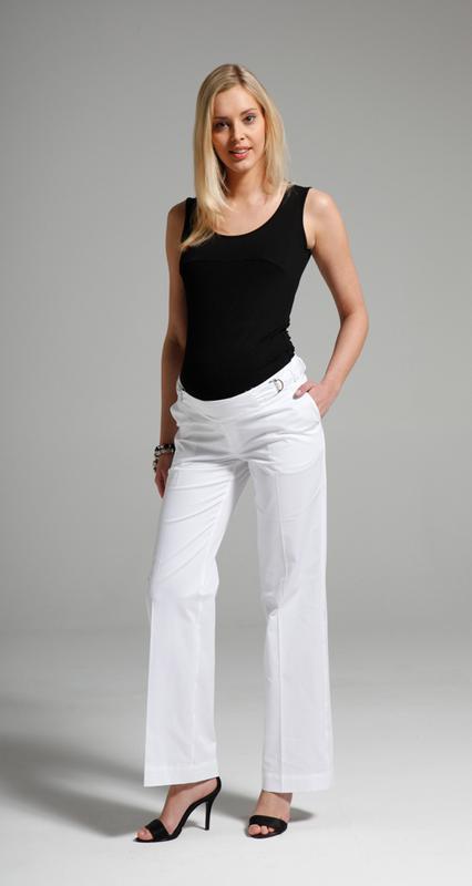 cb48aa5dc01a06e Шикарные, белые,базовые, широкие, лёгкие штаны- брюки для беременных/заниженной  ...