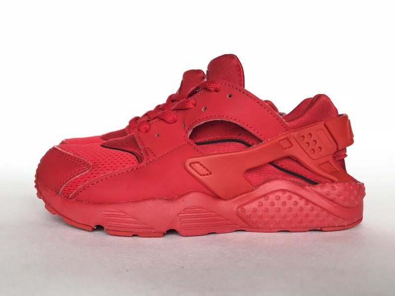 bd10688f Детские кроссовки nike preschool air huarache run original красные  кроссовочки1 фото ...