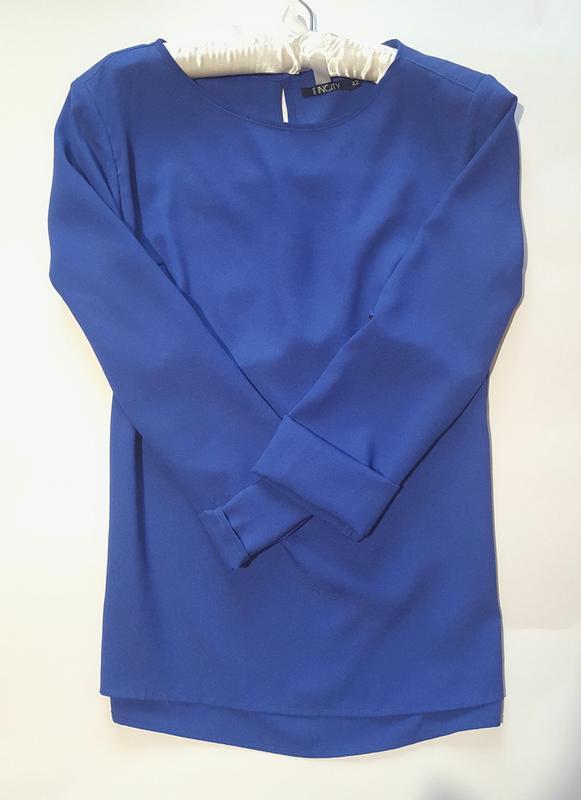 efab69e4067 Стильная ярко-синяя блузка incity Incity