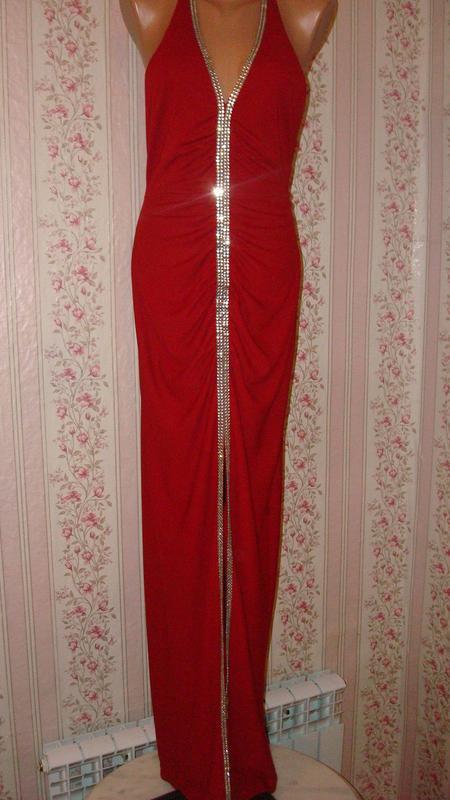 9263ad6004b Обтягивающее вечернее красное платье в пол с открытой спиной1 фото ...