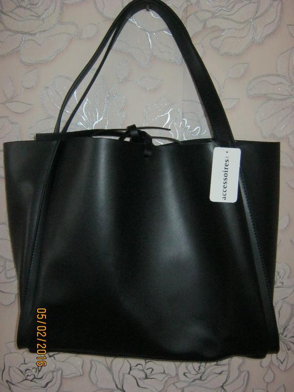 dbf93a7ef628 Стильная кожанная сумка-шоппер c&a C&A, цена - 700 грн, #1492015 ...