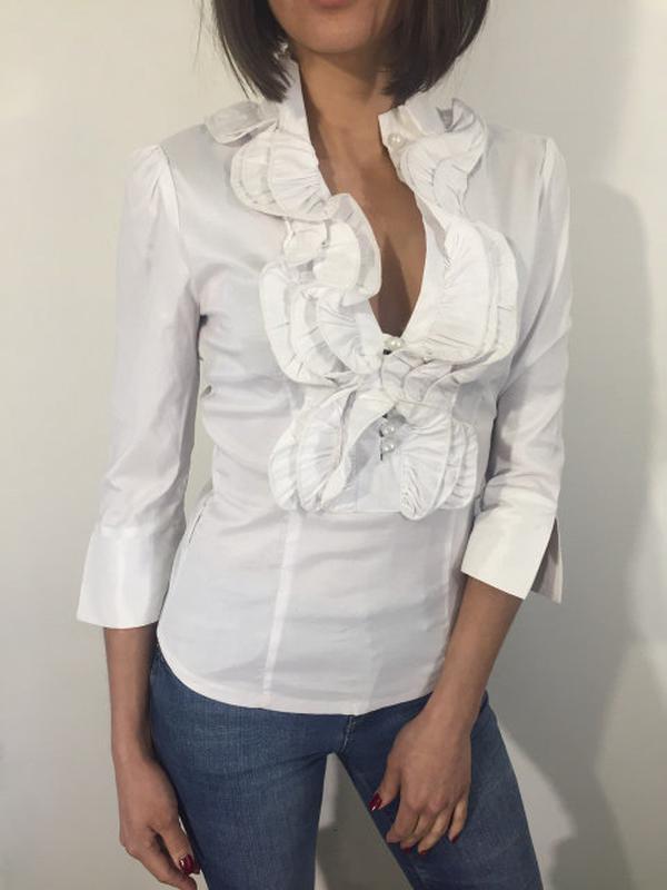 b9cd3e9dc75 Очень стильная белая женская блуза.1 ...